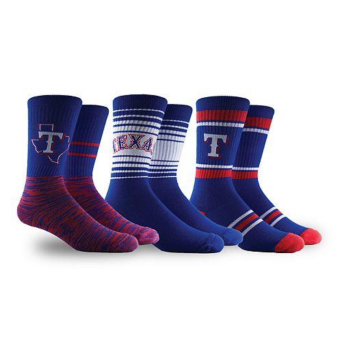 Texas Rangers 3-Pack Crew Socks