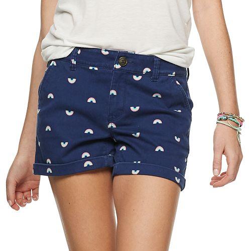 Juniors' SO® Low Rise Cuffed Hem Midi Shorts