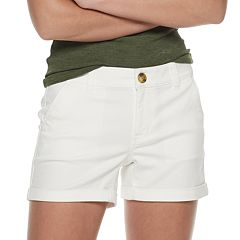 7e7fb4ed98 Juniors' SO® Low Rise Cuffed Hem Midi Shorts