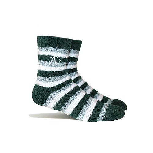 Oakland Athletics Fuzzy Socks