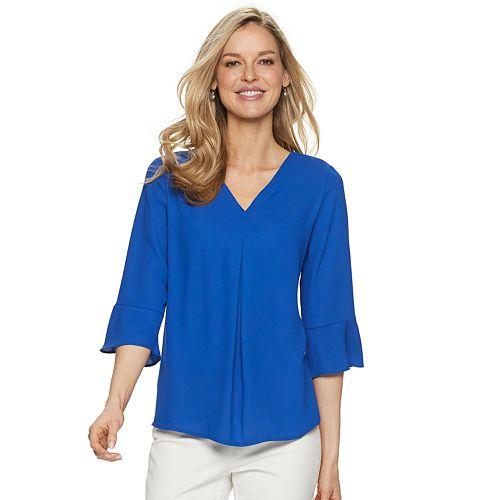 Women's Dana Buchman V-neck Bell-Sleeve Top