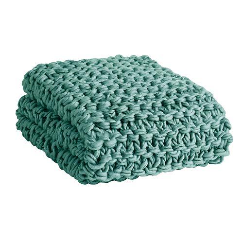 Madison Park Chunky Knit Throw