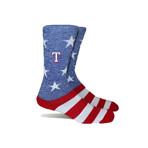 Texas Rangers Patriotic Socks