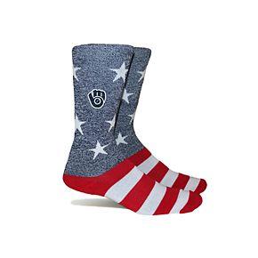 Milwaukee Brewers Patriotic Socks