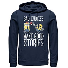 Men's Despicable Me Bad Choices Make Good Stories Pullover Hoodie