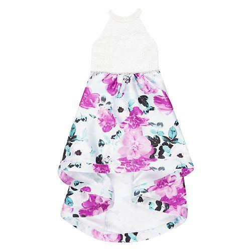 Girls 7-16 Speechless Floral High-Low Maxi Dress