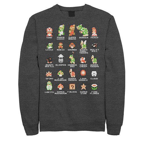 Men's Nintendo Pixel Cast Sweatshirt