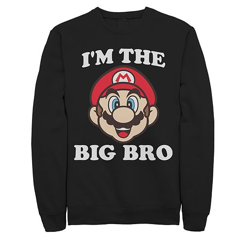 Men's Mario I'm The Big Bro Logo Sweatshirt
