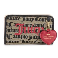Juicy Couture Logo Popout-Heart Zip-Around Wallet