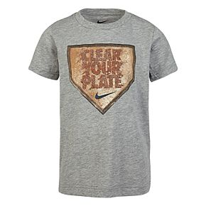 """Boys 4-7 Nike """"Clear Your Plate"""" Baseball Graphic Tee"""