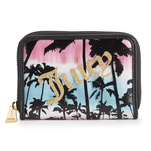 Juicy Couture Crystal Clear Mini Zip-Around Wallet