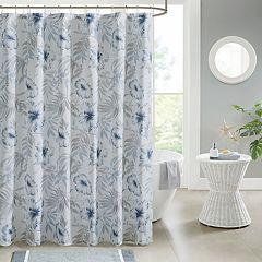 Madison Park Amalia Printed Cotton Shower Curtain