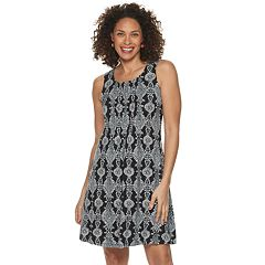 Petite Croft & Barrow® Pintuck Tank Dress