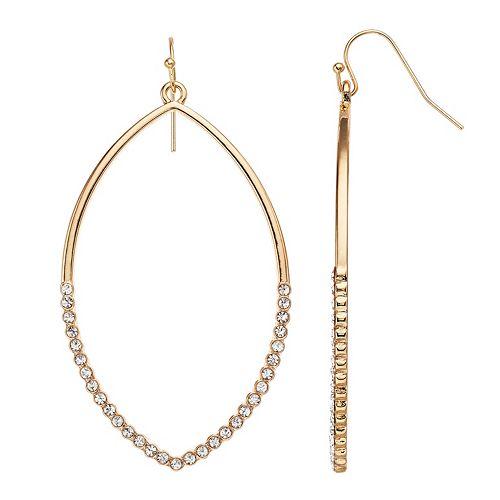 Women's LC Lauren Conrad Marquis Shaped Pave Drop Earrings