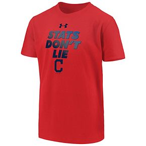 Boys 8-20 Under Armour Cleveland Indians Stats Don't Lie Tee