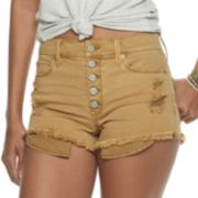 Juniors' Mudd® High Rise Frayed Hem Shortie Shorts