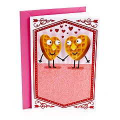 Hallmark Shoebox Funny Valentine's Day Card for Significant Other (Waffles Joke)