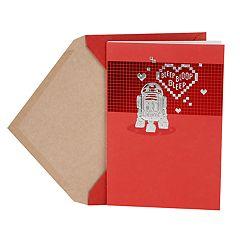 Hallmark Valentine's Day Card (Star Wars R2-D2 & Hearts)