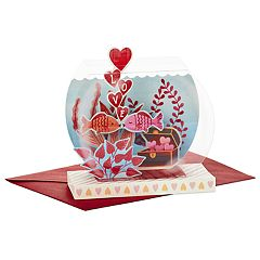Hallmark Paper Wonder Displayable Pop Up Valentine's Day Card for Significant Other (Fish Bowl)