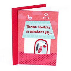 Hallmark Pack of Valentine's Day Cards, Dog with Heart 6-Pack
