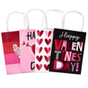 Hallmark Small Valentine's Day Paper Gift Bags Assortment, Valentine Hearts 4-Pack