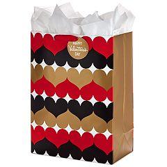Hallmark Oversized Valentine's Day Gift Bag with Tissue Paper (Heart Pattern)