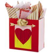 Hallmark Signature Medium Valentine's Day Gift Bag with Tissue Paper (Heart Banner)