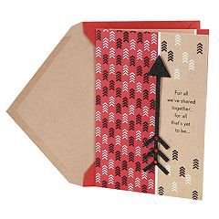 Hallmark Valentine's Day Card for Significant Other (Black Glitter Arrow)