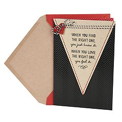 Hallmark Valentine's Day Card for Significant Other (Chevron One & Only)