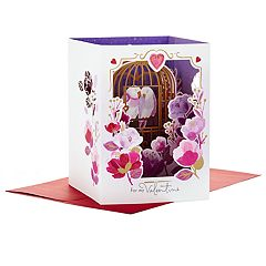 Hallmark Paper Wonder Displayable Pop Up Valentine's Day Card for Significant Other (Love Birds)