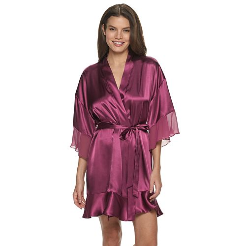 Women's Apt. 9® Solid Satin Wrap Robe