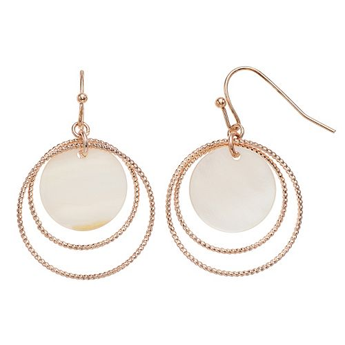 Women's LC Lauren Conrad Mop Drop Center Hoop Earrings