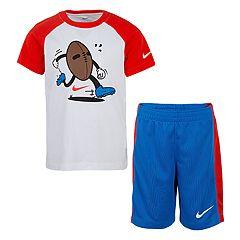 Boys 4-7 Nike Sports Raglan Graphic Tee & Shorts Set