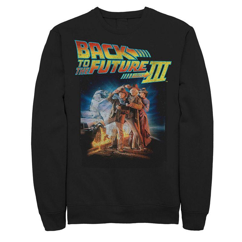 Men's Back to the Future III Sweatshirt, Size: XL, Black