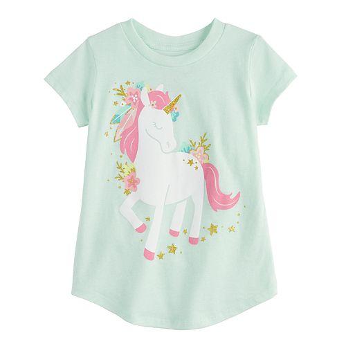 Toddler Girl Jumping Beans® Glittery Unicorn Graphic