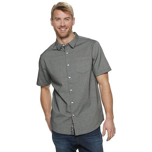 Men's Method Regular-Fit Patterned Textured Button-Down Shirt