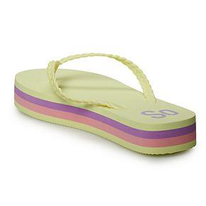 SO® Helio Women's Platform Flip Flop Sandals