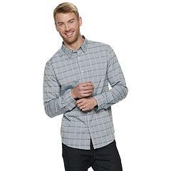 d19577b4a59304 Men's Method Regular-Fit Patterned Textured Button-Down Shirt