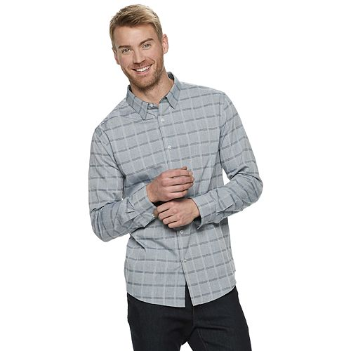 Men's Method Regular-Fit Patterned Textured Button-Down Shirt