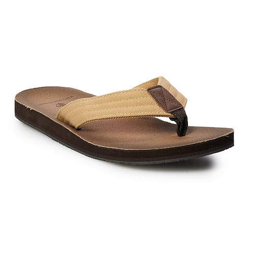 Men's Vintage Stone Brown Flip-Flops