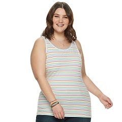 Juniors' Plus Size SO® Double Scoop Tank Top