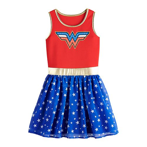 Girls 7-16 DC Comics Graphic Fit & Flare Dress