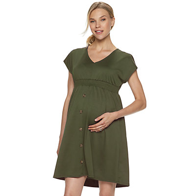 Maternity a:glow Button Front Dress