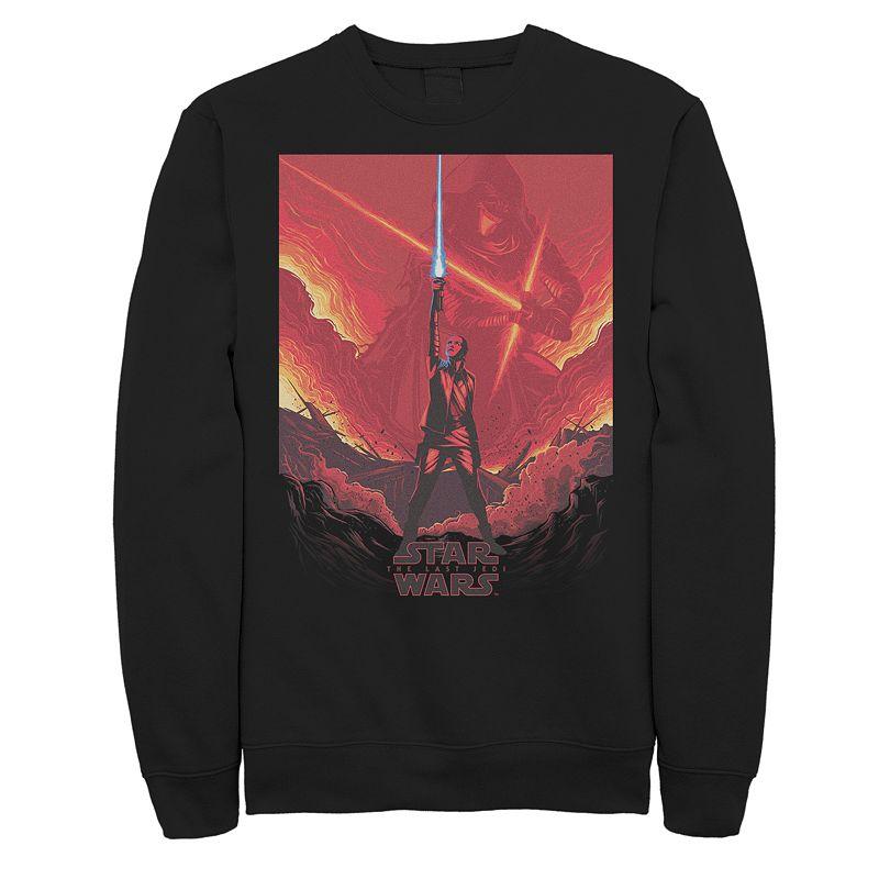 Men's Star Wars Light Saber Sweatshirt, Size: XXL, Black