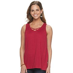 4d6b2f0d37bef2 Womens V-Neck Tank Tops Tops & Tees - Tops, Clothing | Kohl's