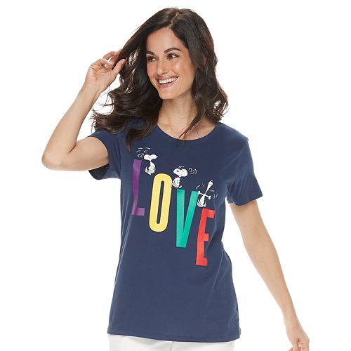 "Women's Family Fun™ Peanuts Snoopy ""Love"" Graphic Tee"