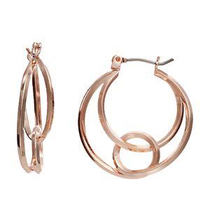 Napier Open Layered Click-It Hoop Earrings