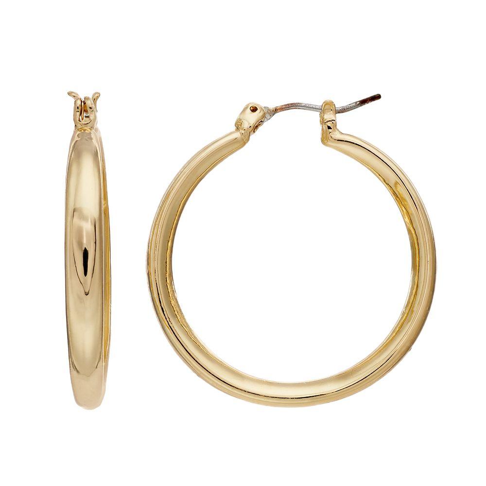 Napier Front Back Hoop Earrings