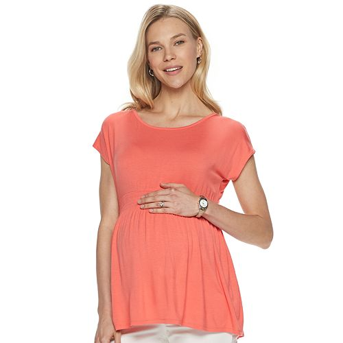 Maternity a:glow Smocked Top