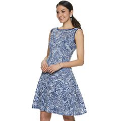 ade2441487 Petite Apt. 9® Medallion Lace Fit   Flare Dress